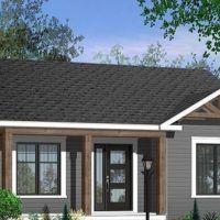 Plano de casa de 100 metos cuadrados - 3 dormitorios - 1 Piso