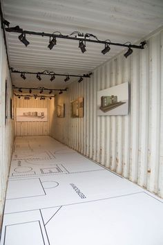 GM, Detroit organizations unveil shipping container home Container Shop, Cargo Container Homes, Building A Container Home, Storage Container Homes, Container House Plans, Container House Design, Tiny House Design, Shipping Container Buildings, Shipping Container Home Designs