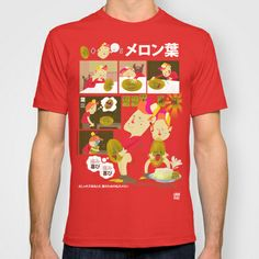 japanese instructions to fuck a watermelon  T-shirt by gran mike - $22.00