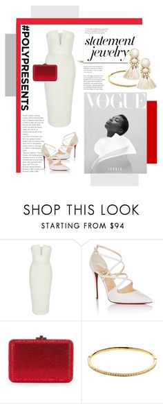 """""""#PolyPresents: Statement Jewelry"""" by zeljkaa ❤ liked on Polyvore featuring Alex Perry, Christian Louboutin, Melissa Odabash, Violeta by Mango, contestentry and polyPresents"""