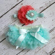Baby Girl TuTu Bloomers Chiffon Ruffle Diaper by LolaBeanClothing, $19.95