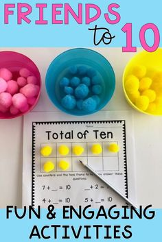 Assist your students to become confident and competent little mathematicians with this jam-packed addition and subtraction resource. It includes 10 bright bulletin board posters and a series of 12 rigorous activities to build up your students fluency in n Numeracy Activities, Subtraction Activities, Hands On Activities, Number Bonds Activities, Teaching Addition, Math Addition, Addition And Subtraction, Number Bond Games, Number Bonds To 10