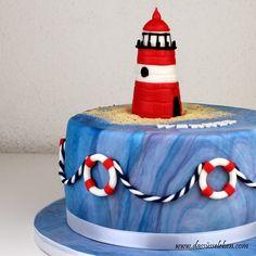 Leuchtturm-Torte