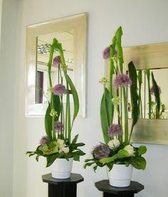 Tall corporate flower arrangements