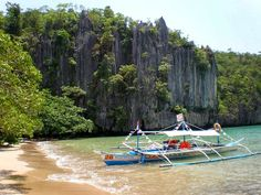 Tropical Dreams: Philippines  Boat trip to hidden beach...  #philippines