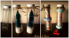 recycle bottle art christmas Recycled Bottles, Recycled Art, Diy Christmas, Christmas Decorations, Bottle Art, Easy Diy, Recycling, Ornaments, Recycle Bottles