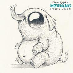Elephant! #morningscribbles