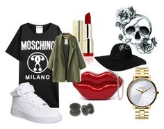 littlepunk by anulinka on Polyvore featuring Moschino, NIKE, Nixon and Monki