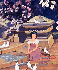 Snow White and the Seven Dwarfs This movie was out AGES ago. Walt Disney, Disney Love, Disney Magic, Disney Art, Disney Animation, Animation Film, Disney And Dreamworks, Disney Pixar, Disney Characters