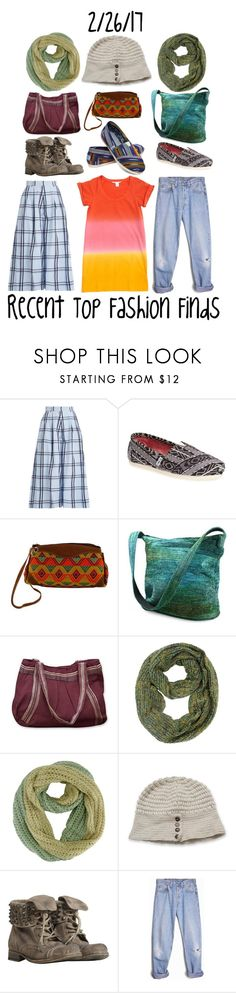 """Recent Top Fashion Finds"" by maggie-johnston ❤ liked on Polyvore featuring House of Holland, TOMS, NOVICA, AllSaints, Levi's and Diane Von Furstenberg"
