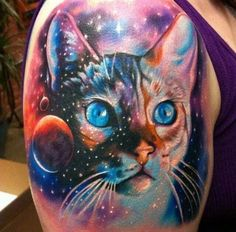 Breath-taking realistic cosmic cat  by Carlos Ransom!