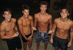 The Dolan Twins Cameron Dallas Nate Garner // 4 cutest boys ever! Beautiful Boys, Pretty Boys, Beautiful Images, Boys Lindos, Best Friends Brother, Surfer Boys, Hot Surfer Guys, Cute White Boys, Cute Teenage Boys