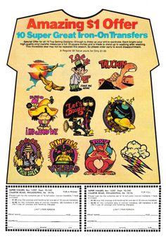 1976 T-Shirt Iron-On Advertisement