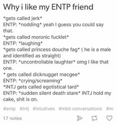 Gotta get me one of those. Sounds like every INTJ should have one. Entp Personality Type, Myers Briggs Personality Types, Myers Briggs Personalities, Intj And Infj, Entj, Introvert, Just In Case, Psychology, Thoughts