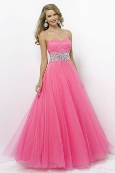 prom dresses prom dresses for teens prom dresses long 2014 strapless ball gown tulle beaded floor-length prom dress hopes dress Cute Prom Dresses, Prom Dresses For Teens, Grad Dresses, Dance Dresses, Homecoming Dresses, Dress Outfits, Dress Up, Pink Dresses, Dress Long