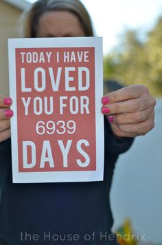 Such an easy last minute card, just print. Love these 50 adorable ways to love on your family.