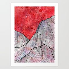 As the sky turned red Art Print by  Steve Wade ( Swade) | Society6