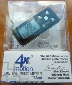 Ozeri 4×3 motion Digital Pocket 3D Pedometer with Tri-Axis Technology the best gadget to monitor your work out
