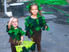 Tree costumes for little kids.