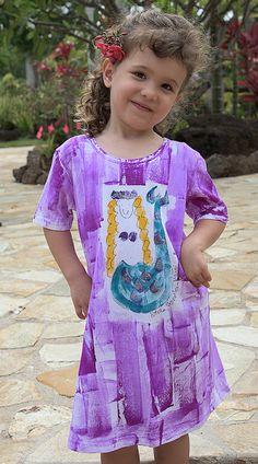 Mermaid dress  girl hawaiian dress  girl mermaid by PetrinaBlakely