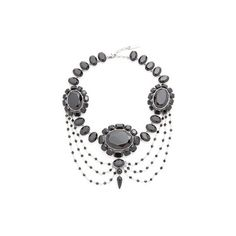 Marc Jacobs Jet Night Statement Necklace ($345) ❤ liked on Polyvore featuring jewelry, necklaces, marc jacobs, marc jacobs jewellery, statement necklaces, chains jewelry and brass necklace