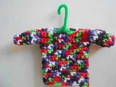Crochet Ugly Sweater Christmas Ornament by SashaMCrafts on Etsy
