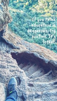 The stairs of Harihar Fort / Harish Garh, Maharashtra Beautiful Places To Visit, Amazing Places, Forts, Captions, The Good Place, Traveling, Stairs, Adventure, Quotes