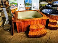 Rectangular hot tub polypropylene lined Micro pool Deluxe - TimberIN