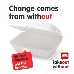 Fill Your Stomach. Not the Landfill. Forks And Spoons, Plastic Cups, Paper Bags, Fill, Packaging, Times, Canning, American, Projects