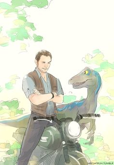 Nerd Girl Problem: A guy and his Raptor. How is this even adorable? I don't know. It just is.