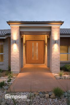 Simpson Artist Collection doors, designed by renowned architect James L. Cutler, provide the simple, but sophisticated look desired by many homeowners.