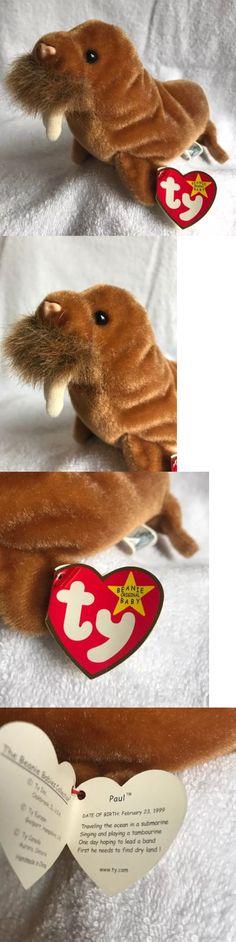 a4e584bd42a 1999 Ty Beanie Baby Paul Plush Walrus Error Rare`2-23-99 -  BUY IT NOW  ONLY   300 on  eBay  retired  beanie  plush  walrus  error