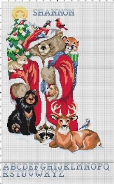 Santa+Bear+Christmas+Stocking+Counted+Cross+Stitch+by+Berwickbay,+$2.00