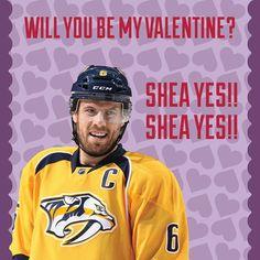 Nashville Predators - Shea Weber Valentine
