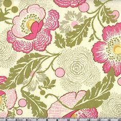 Amy Butler Midwest Modern Fresh Poppies Fuchsia - Discount Designer Fabric - Fabric.com