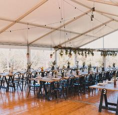 Cute setup  love the black chairs for something different. #wedding #reception #rusticwedding #countrywedding #marqueewedding #alittlebitdifferent