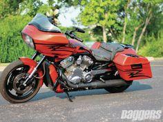 Harley-Davidson V-Rod set up for touring