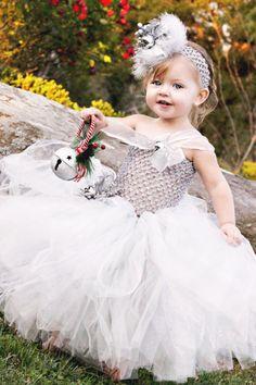Silver Bells Tutu Dress by MyPrincessTutuBoutiq