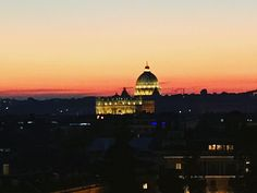 The sun sets over Saint Peters on Christmas Day 2017 #italogram