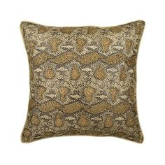 Gold Beaded Faux Leather Animal Pillow Cover, Walk The Wild – The HomeCentric