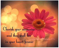 Cherish you memories and they shall live in your heart forever.