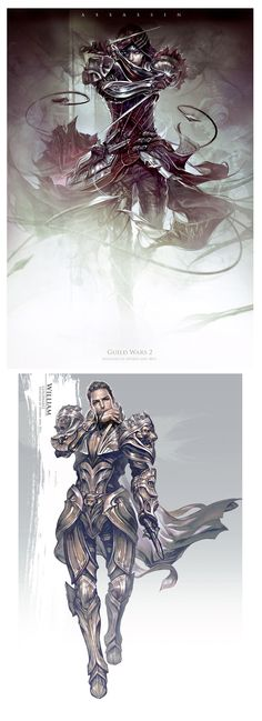 Not always a huge fan of the armor but the design is beautiful! Guild Wars 2 concept art by Hyojin Ahn || theconceptartblog.com