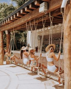 In case you NEED some GIRLS TRIP SWIM Inspo. Because let's be honest, coordinating swimsuits = 🙌.