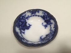 """Alfred Meakin Ovando Cereal Bowl Flow Blue Flowers Gold Accents Trim  6 1/4"""" #AlfreadMeakin"""