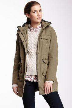 Levi's Hooded 4 Pocket Parka Coat