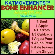 Groentesap om je botten te versterken
