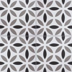 Carreaux de ciment - Les motifs - Carreau NOA B 10.01.27 - Couleurs & Matières