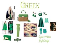 """Green"" by homestyledesigner on Polyvore featuring Kate Spade, Chicwish, Roccobarocco, Marc by Marc Jacobs and Free People"