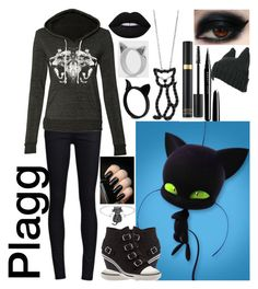 """""""Plagg: Miraculous Ladybug"""" by lil-galaxy-princess ❤ liked on Polyvore featuring THVM, Ash, Meadowlark, Roberto Coin, Finesque, Tom Ford, Marc Jacobs and Lime Crime"""