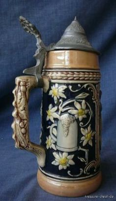 Beer Stein Markings | Details about Authentic Vintage German Beer Stein, Edelweiss
